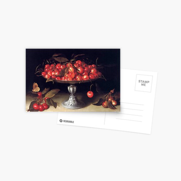 Cherries in a Silver Compote by Fede Galizia Postcard