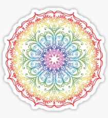Rainbow Ombre Mandala Sticker