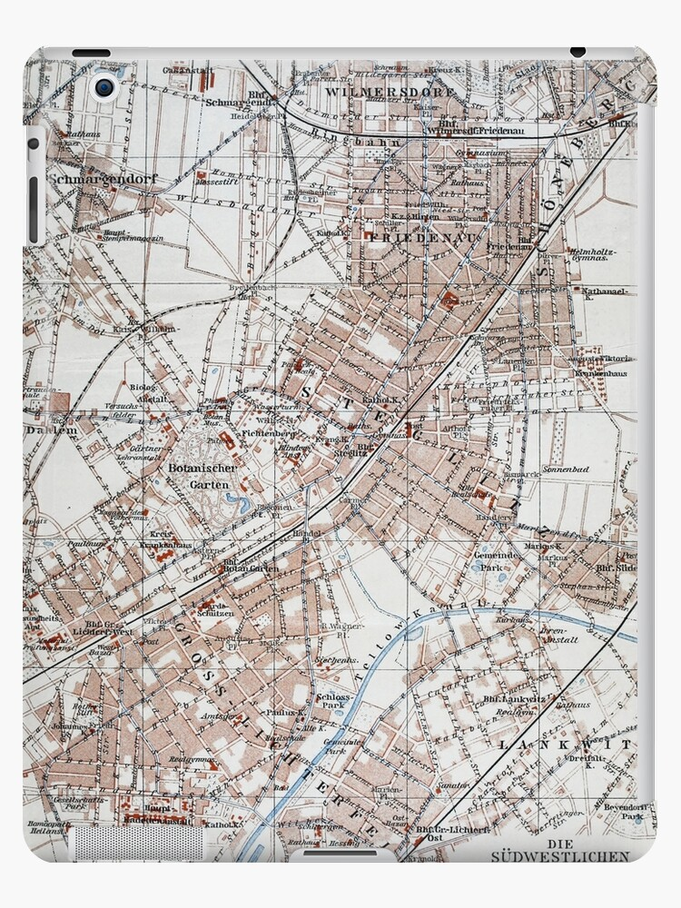 Vintage Map of The Berlin Germany Suburbs (1914)  von BravuraMedia