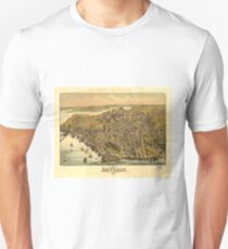 Vintage Pictorial Map of Beverly MA (1886) T-Shirt