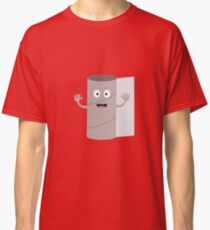 Empty Toilet paper roll with face Classic T-Shirt