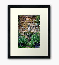 Garden Fountain Framed Print