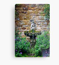 Garden Fountain Metal Print