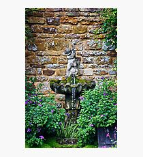 Garden Fountain Photographic Print
