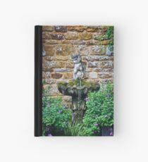 Garden Fountain Hardcover Journal