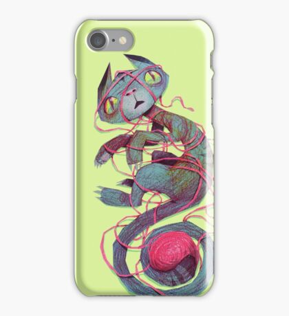 cat + thread iPhone Case/Skin