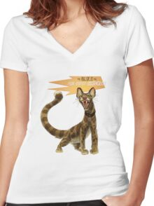 Babou Women's Fitted V-Neck T-Shirt