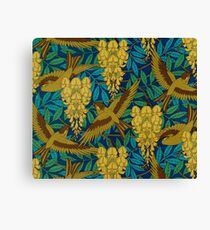 Vintage Art Deco Birds and Leaves Canvas Print