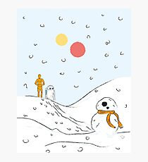 A Very BB8 Christmas Photographic Print