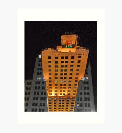 Skyscraper at night Art Print