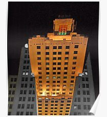 Skyscraper at night Poster