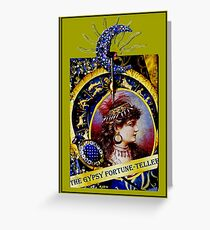 THE GYPSY FORTUNE-TELLER; Vintage Print Greeting Card