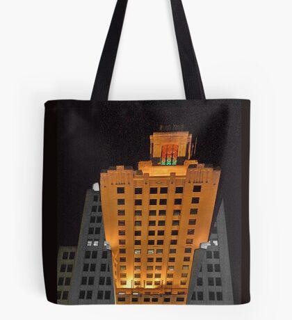 Skyscraper at night Tote Bag