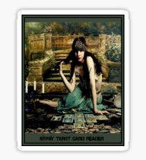GYPSY TAROT CARD READER; Vintage Print Sticker