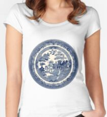 China Blue Willow Women's Fitted Scoop T-Shirt