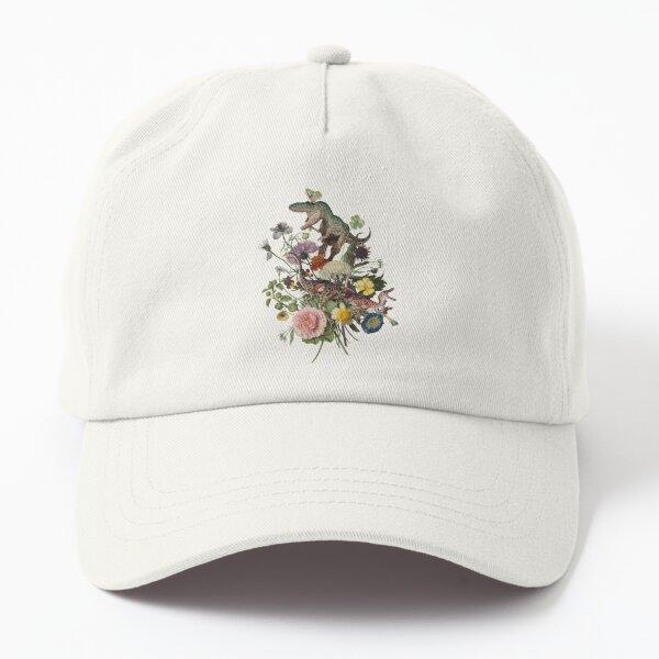 DINO-MITE Dinosaur Botanical Bouquet Dad Hat