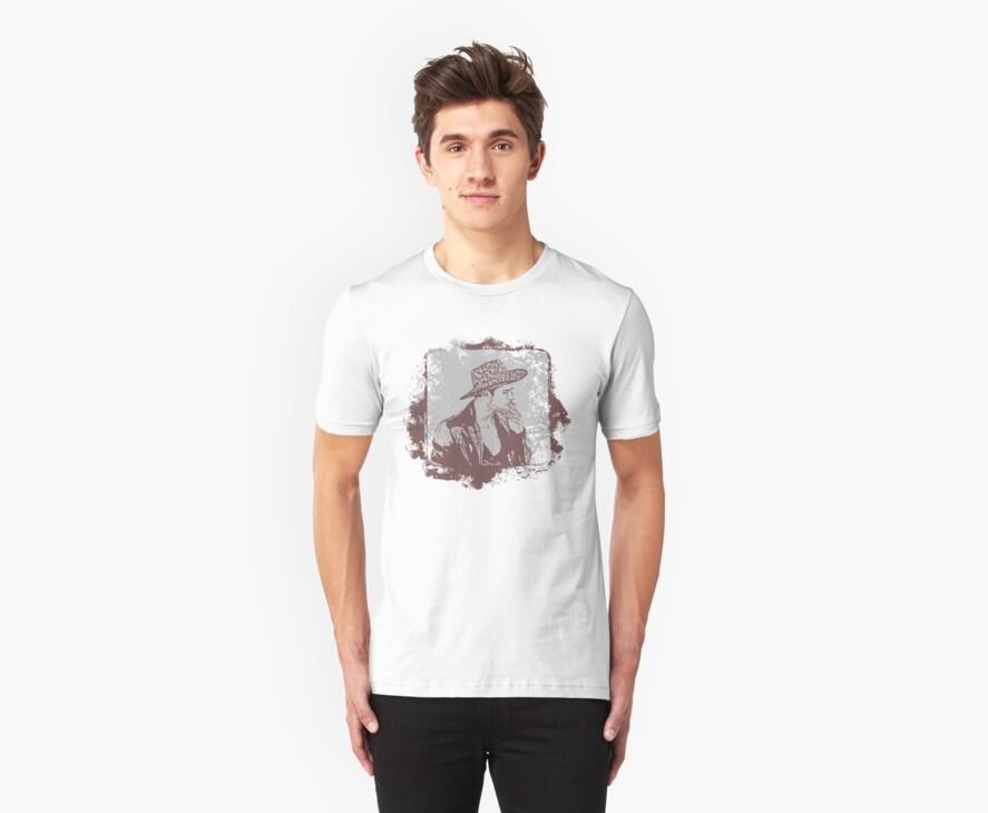 Cowboy Smoking Hat :D Cool Grunge Vintage T-Shirt by Denis Marsili