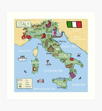 photo relating to Printable Map of Venice identify Venice Map Wall Artwork Redbubble