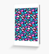 Seamless abstract graphic pattern  Greeting Card
