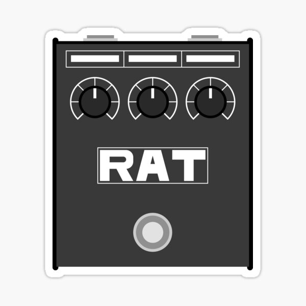 Rat Pedal Sticker