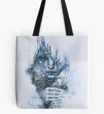 Frost forest fairy under the snow Tote Bag