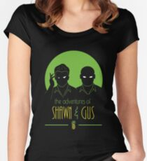 The Adventures of Shawn and Gus Women's Fitted Scoop T-Shirt