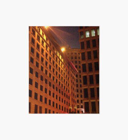 Downtown at night Art Board