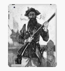 Blackbeard at attention with rifle  iPad Case/Skin
