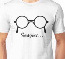 Imagine John Lennon Song Lyrics Quotes The Beatles Rock Music Unisex T-Shirt
