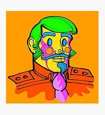 Captain Vector, conceptual character. Photographic Print