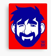 ADAM LIKES RED AND BLUE Canvas Print