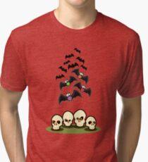 Bats n Skulls Tri-blend T-Shirt