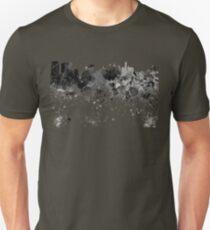 Philadelphia skyline in black watercolor Unisex T-Shirt