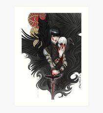 dagger & mask Art Print