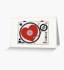 Retro Record Player Greeting Card