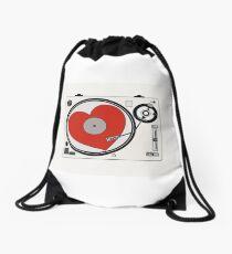 Retro Record Player Drawstring Bag