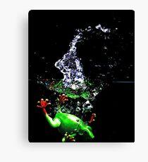 Frogger Splash Canvas Print