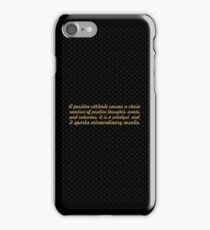 """A Positive attitude...""""Wade Boggs"""" Inspirational Quote iPhone Case/Skin"""