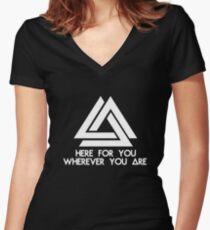 WWCOMMS 2 Women's Fitted V-Neck T-Shirt