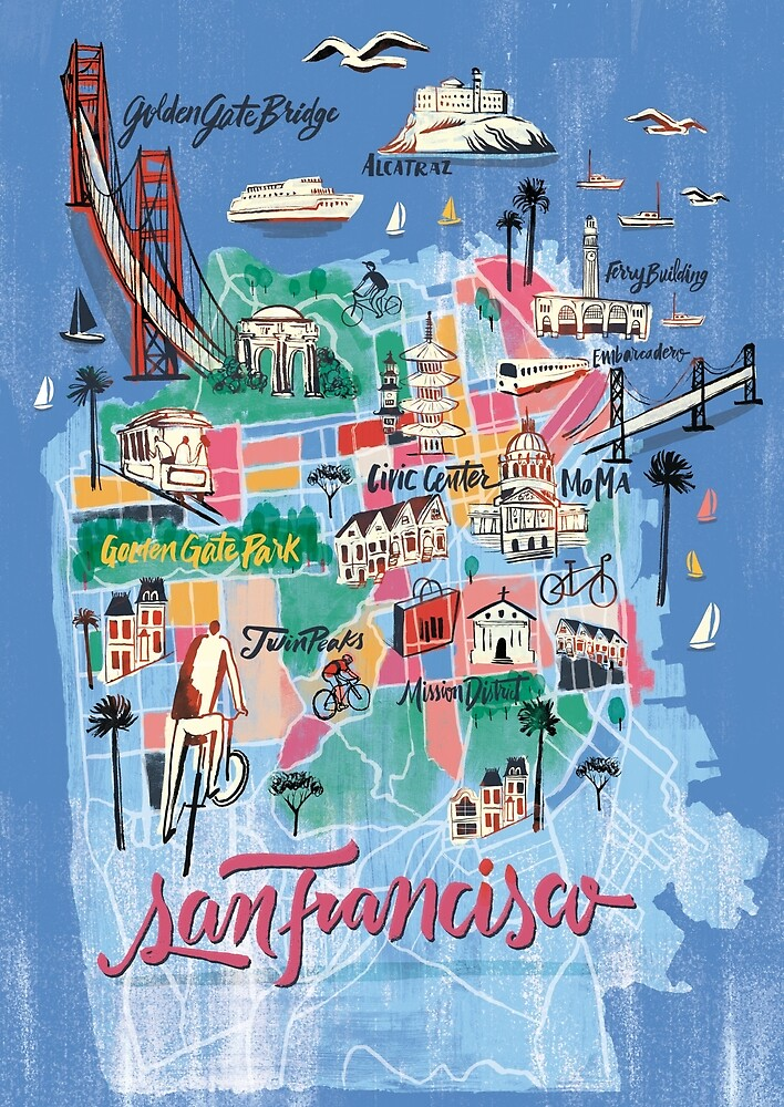 Quot San Francisco Illustrated Map Quot By Francisco Martins