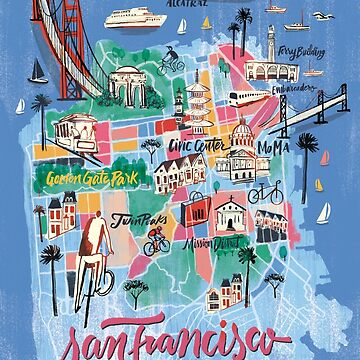 San Francisco illustrated Map by franciscomartns
