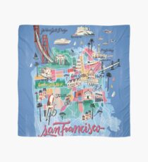 San Francisco illustrated Map Scarf