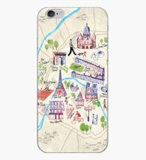 Paris illustrated Map iPhone Case