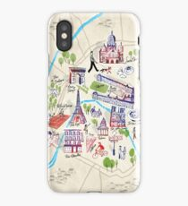 Paris illustrated Map iPhone Case