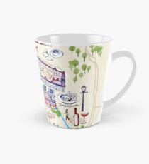 Paris illustrated Map Tall Mug