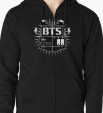 BTS - logo Zipped Hoodie