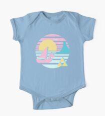 Großer Seesonnenuntergang Baby Body Kurzarm