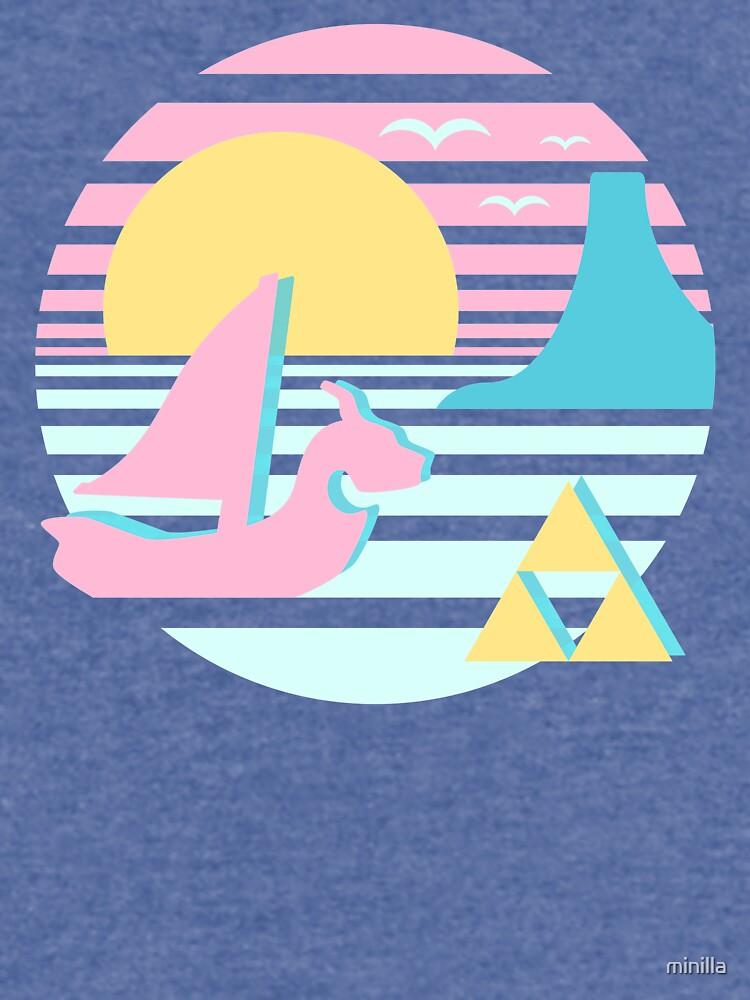 Gran puesta de sol del mar de minilla