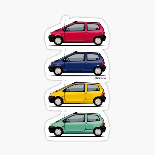 Renault Twingo 90s Colors Quartet Sticker