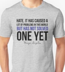 Hate Doesn't Solve- Blue Lives Matter  Unisex T-Shirt